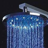 Tête de douche ronde - LED changeant de couleurs - ⌀ 30cm
