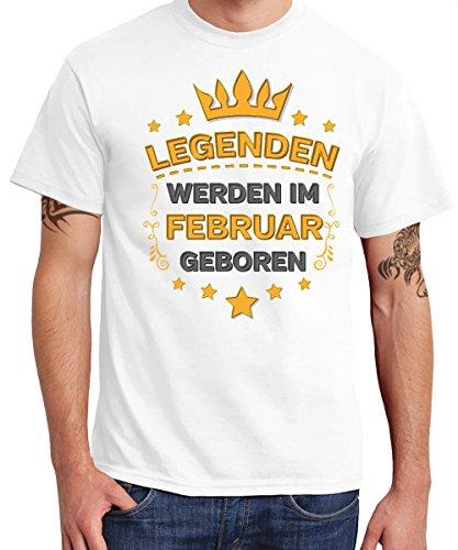 -- Legenden werden im Februar geboren -- Boys T-Shirt Weiß