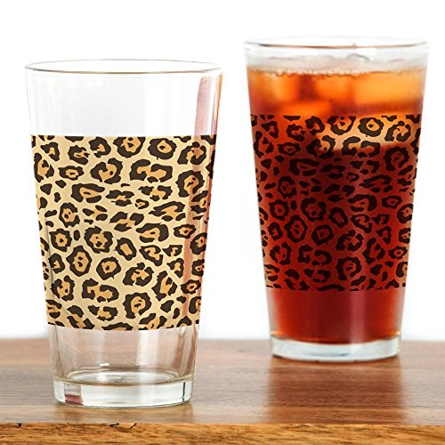 CafePress–Leopard Animal Print–Pint-Glas, 16oz (Gläser Print Leopard)