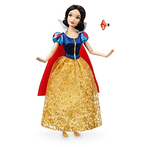 Muñeca clásica con anillo de Disney, 30 cm, blanca nieve.