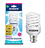 Ecozone Biobulb MAX, Extra Bright, Energy-Saving Daylight bulb, Bayonet Cap B22 30W equivalent to 150W, 2000 Lumens, Full Spectrum, Daylight White 6500k, Uses 80% Less Energy. Ideal for suffers of S.A.D