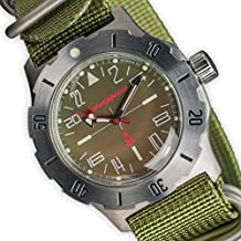 Vostok ruso mecánico K-35# 350645KOMANDIRSKIE 24horas reloj de pulsera 2431.01