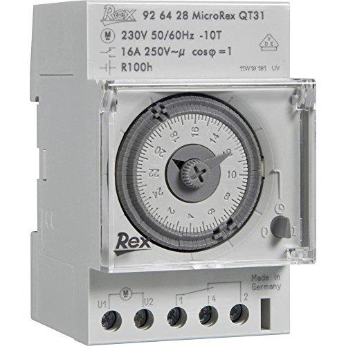 REX Zeitschaltuhren 925429 Hutschienen-Zeitschaltuhr 230V 16 A/250V
