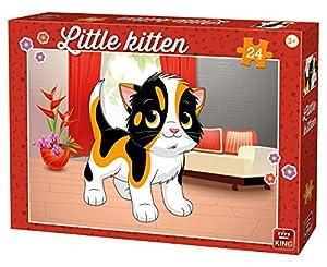 King KNG05797 - Puzzle para niños (24 Piezas), diseño de Gato pequeño en casa