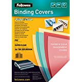 FELLOWES Pqt de 100 Couvertures Reliure SUPER CLEAR A4 PVC 0,20 mm Transparent