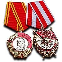 Orden de Lenin, Orden de la bandera roja Set–Highest Soviética militar medalla premio para ejemplar Servicio antiguo reproducción URSS Soviética regalo
