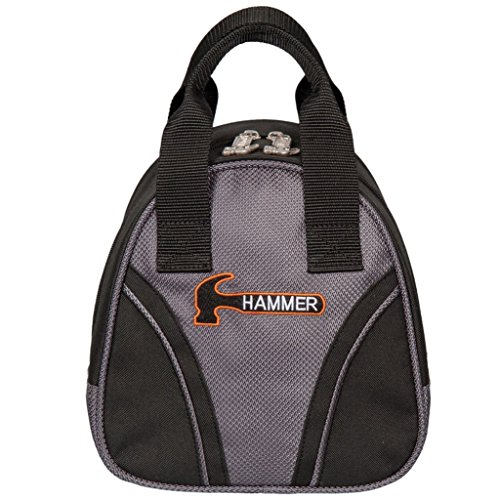 HAMMER Plus 1Bowling Bag, Black/Carbon (Bowling Bag Für Einen Ball)