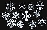 marinamalina Schneeflocke Bügelbild Aufkleber Hotfix Bügelbild Textilaufkleber Glitterfolie Glitzerfolie bunt 12 Stück (450 Silber)