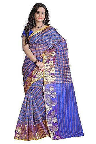 E-Vastram Net Saree (Emsdb_Multicoloured)