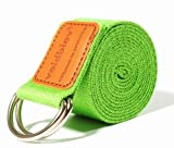voidbiov Adjustable Yoga Pilate Stretch Belt D-Ring Buckle Strap Perfect for Holding Poses Improing Flexibility( Grass Green)