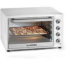 Klarstein Masterchef XL • forno elettrico • volume 100 lt • potenza 2700 Watt • 4 elementi di riscaldamento • Temperatura continua 100-230°C • calore superiore • calore inferiore • acciao inox • bianco