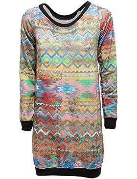 0188R maxi felpa donna OZ multicolor sweatshirt woman