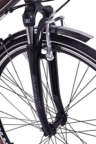 """51ciYtjm pL - Ammaco Traveller 700c Mens Hybrid Bike Front Suspension Alloy 19"""" Frame Grey 21 Speed"""