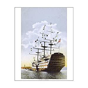 20x16 Print of The HMS Victory - brought in to Portsmouth Harbour (11588125)