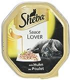 Sheba Katzenfutter Nassfutter Sauce Lover mit Huhn, 11 x 85 g
