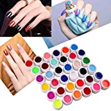 Vanyda 36 Farbe Nagellack Nail Art UV Gel Set Farbgel Effekt-Gele Nagel Design Für Fingernägel