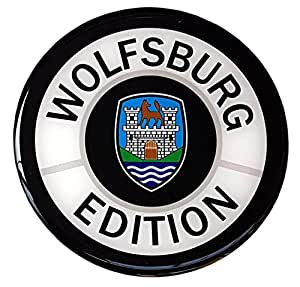 Wolfsburg edition car sticker decal badge round german for Amazon gelbsticker