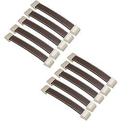 FBSHOP(TM) 10 piezas tiradores de cajón de cuero retro de alta calidad / perillas / asas / para maletín maletín de vino armario de madera caja de guardarropa Shoebox Hardware de muebles