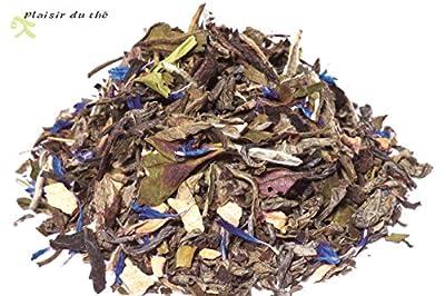 Thé, le Plaisir Coquin, thé blanc parfumé gingembre framboise, 100g
