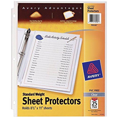 Avery 75530 215 x 280 mm Polypropylene (PP) 2pièce(s) protecteur de feuilles - Protecteurs de feuilles (215 x 280 mm, Polypropylène (PP), 2 pièce(s))