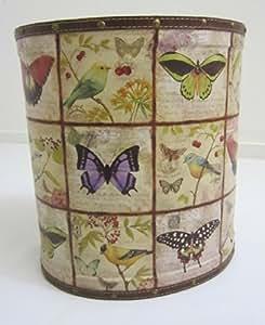 Unique de Papillons style Shabby Chic Ovale-Corbeille à Papier-Poubelle-Taille L