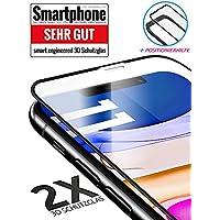 3D Schutzglas 9H Fullscreen [2 Stück] kompatibel mit iPhone 11 [Panzerglas-Folie] Fullscreen Premium Glas-Schutz, Schablone-Installationshilfe, Hartglas, Hüllenfreundlich,volle Abdeckung,Transparent