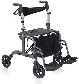 2 in 1 girello deambulatore ribaltabile trasporto sedia a