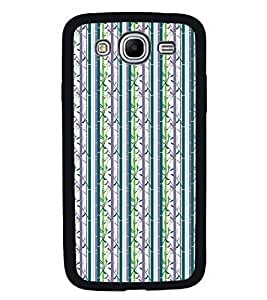Fuson Premium 2D Back Case Cover Stripes pattern With Purple Background Degined For Samsung Galaxy Mega 5.8 i9150::Samsung Galaxy Mega 5.8 i9152