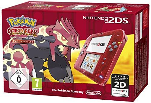 Nintendo 2DS (Transparent Rot) inkl. Pokemon Omega Rubin