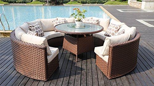 10 Seater Garden Furniture Yakoe 50143 monaco 10 seater round rattan outdoor patio garden yakoe 50143 monaco 10 seater round rattan outdoor patio garden furniture workwithnaturefo