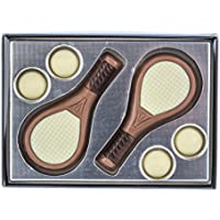 Tableta de chocolate con caja de regalo - Motivo tenis - 65 g