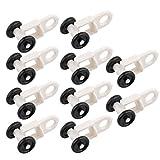 Sharplace 10Stk./Set Gardinengleiter Vorhangschiene Gleiter Gardinenhaken Aufhänger für Vorhänge, Gardine, Schabracke - Stil 2 30mm