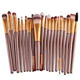 SOMESUN Pinselsets 20 pcs/set Makeup Pinsel Brush Set Professional Brush Makeup Brush Set Make Up Cosmetics Eyeshadow Makeup Professional Wool Hair 20 Stk Make-up Pinsel Set Make-up Augenbrauen Mascara Pinsel, Schwamm Pinsel, Smudge Pinsel Toilettenartikel Wolle Make Up Pinsel Set (Gold)