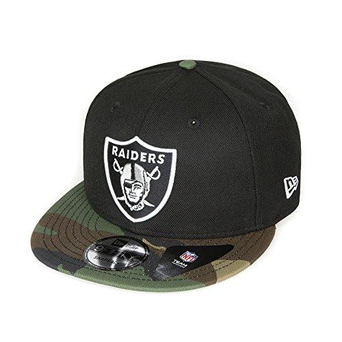 New Era - Oakland Raiders - Snapback Cap 9fifty - camouflage grün schwarz - NFL Football - Unisex Kappe Herren Damen (Schwarze Era Camo New)