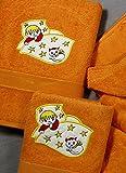 Juego de Toallas Infantiles Bordadas 2 piezas 550gr FISH S-100 D/CU (Naranja)