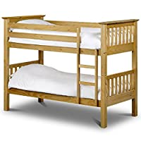 Barcelona , Standard Two Sleeper, Quality Pine Wood BUNK BED Frame