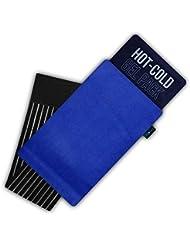 Gelpacksdirect - Bolsa de gel reutilizable para aplicar frío y calor - Con banda de comprensión - Pequeña - 14 x 13 cm