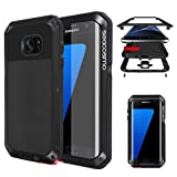 seacosmo Coque Galaxy S7 Edge, Antichoc Protection Étui Métal Heavy Duty en...