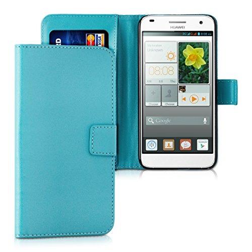 kwmobile Huawei Ascend G7 Hülle - Kunstleder Wallet Case für Huawei Ascend G7 mit Kartenfächern und Stand