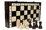 Wooden Magic PERLE XL - große 41cm/16 In Handarbeit klassische Holz-Schachspiel