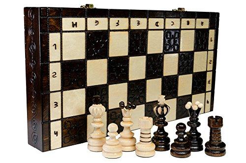 PERLA XL - grande 41cm/16in Handcrafted scacchiera in legno (Handcrafted Perle)