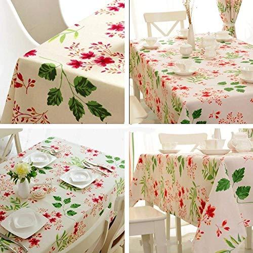hanxuanzhuanmai Tischdecke Stoff leinwand Streifen tischdecke Mode kleine frische büro, kirschblüte 145 * 195 cm -