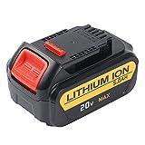 Flylinktech 5.0Ah 20V Max Li-ion Replacement Battery for Dewalt 18V XR DCB184 DCB182 DCB183 DCB185 DCB205 Cordless Drill