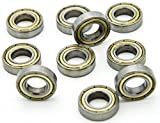 Miki & Co 10 PCS 12 mm x 24 mm x 6 mm Sealed Rillenkugellager Radial Kugellager 6901Z