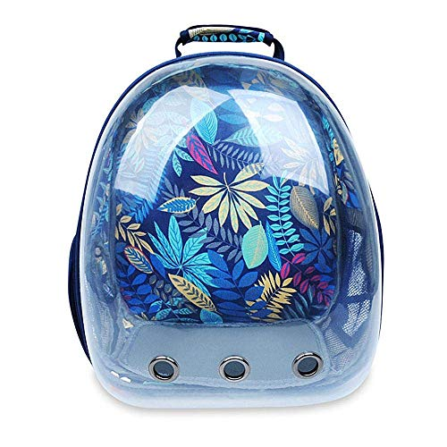 Transparent Pet Carrier Backpack for Cat Kitten Doggie Puppy, Waterproof Carrier Purse, Portable Bubble Carrying Backpack, Travel Knapsack Bag, Baby Carrier for Small Medium Breed Dogs-Blue color (Dog Bag Carrier Medium)