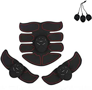 UUMFP Abdos Appareil electrostimulation Ceinture de Gym /à Domicile Ensemble de 3 pi/èces Rechargeables pour Ceintures Tonifiantes pour Muscles abdominaux stimulants EMS