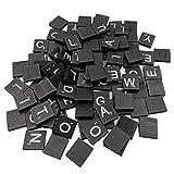 San Bodhi® 100PCS Englisch Buchstaben Alphabet aus Holz Cube Scrabble Kinder Spiel DIY Dekoration