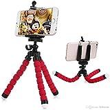 #3: ShopAIS Premium Flexible Mini Tripod (6 Inch Height) for Camera, DSLR and Smartphones with Universal Mobile Attachment - Multicolor