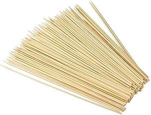 Syga Bamboo Skewers (10-inch, White) - 100 Sticks