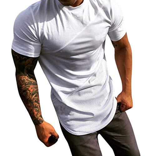 JiaMeng Camiseta para Hombre Militares Camisetas Deporte Personalidad Otoño  Otoño Manga Corta Plaid T Shirt Top 89b370ec416